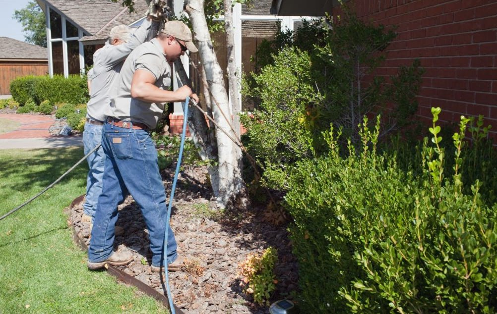 childers leveling technicians using the soil stabilization foundation repair method