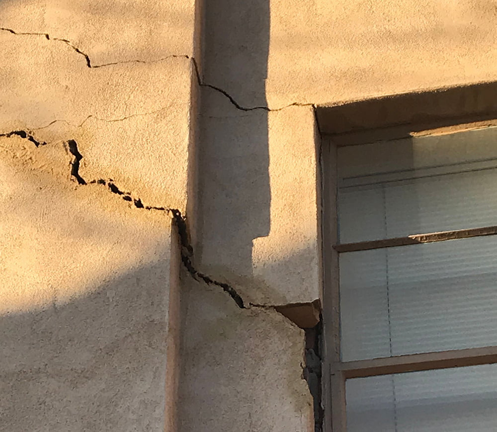 Cracked Wall From Sunken Foundation
