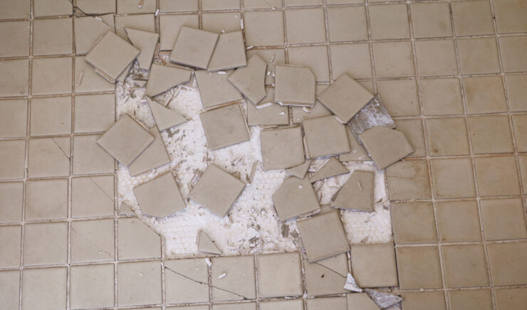 Does cracked tile mean foundation problems?